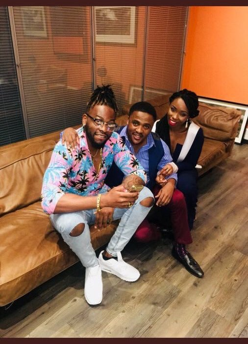 #BBNaija First photos of Teddy A and Bam Bam following eviction