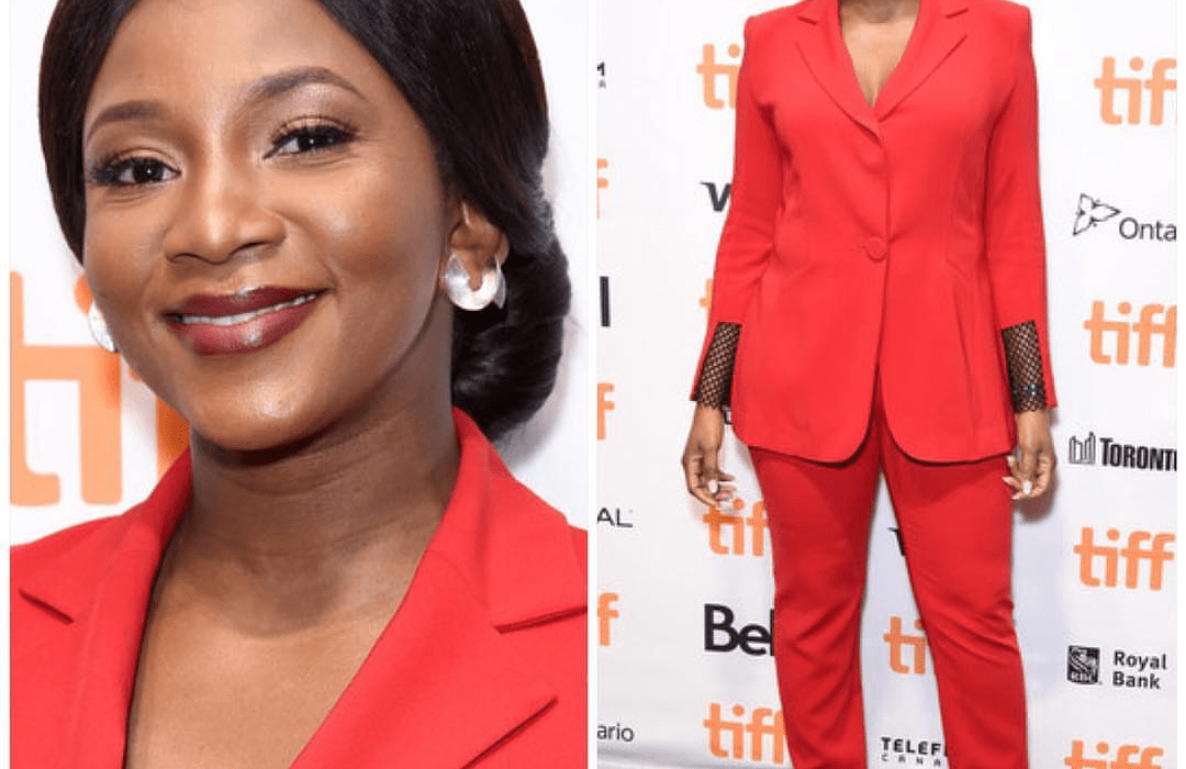 Genevieve Nnaji wows in red at TIFF Lion Heart premiere