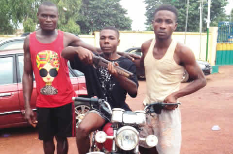 Police nab three-man gang for snatching commercial motorcycles