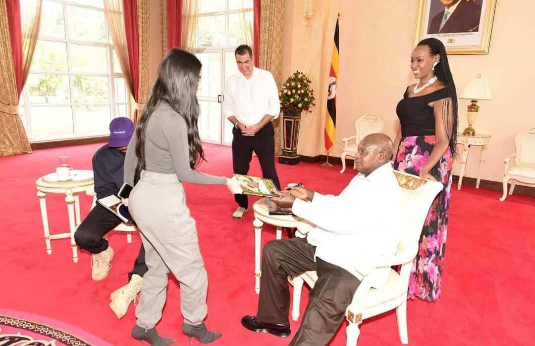 Here's what the president of Uganda asked Kim Kardashian