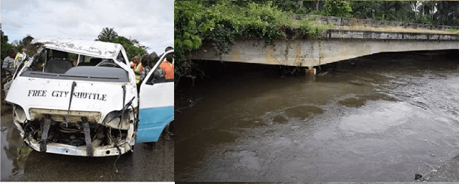 7 rescued, many missing as bus plunges into river