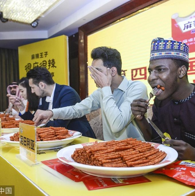 Nigerian man wins a spicy food challenge in China