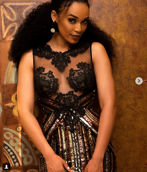 South African actress Pearl Thusi flaunts her curves in sheer dress