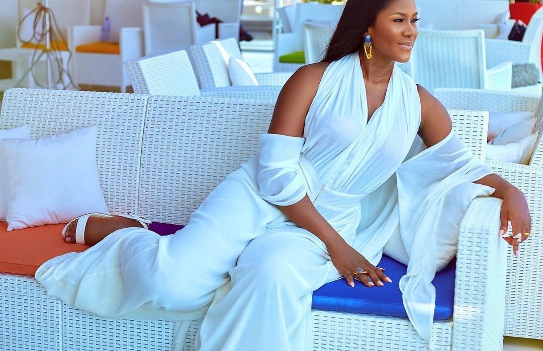 Stephanie Linus is ethereal in white