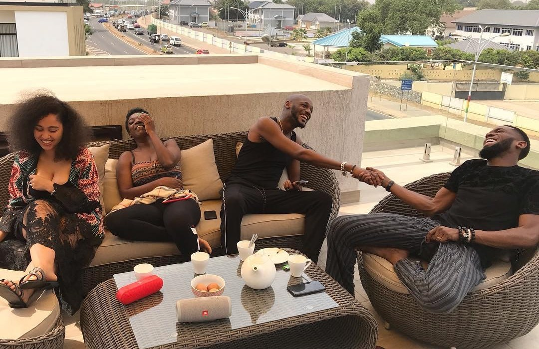 Dbanj and wife on 'baecation' with The Idibias in Ghana