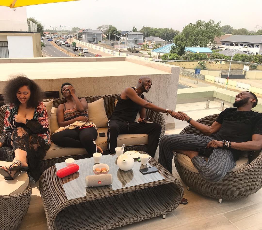 Dbanj and wife on 'baecation' with The Idibias in Ghana