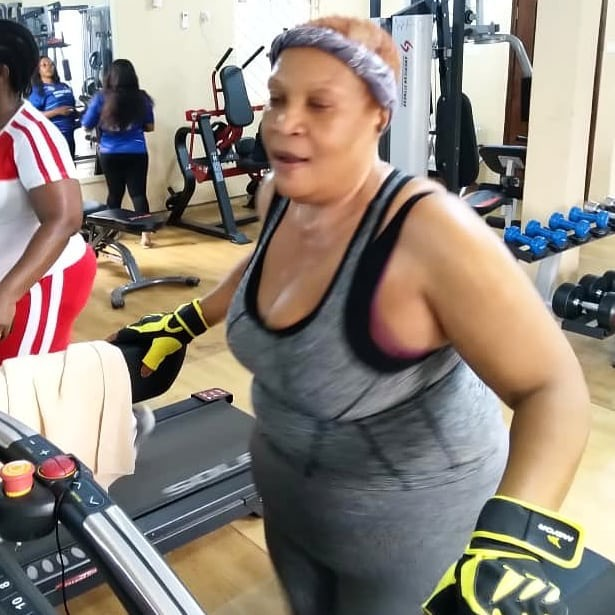 Ngozi Nwosu hits the gym