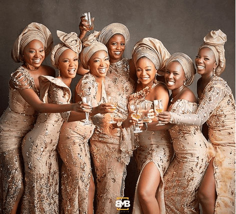 Simi's asoebi girls are all shades of stunning in new photos