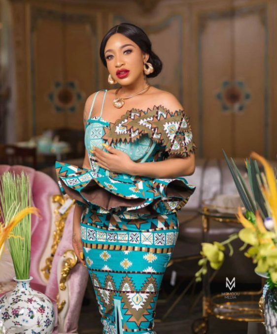 Tonto Dikeh steps out in style for church service