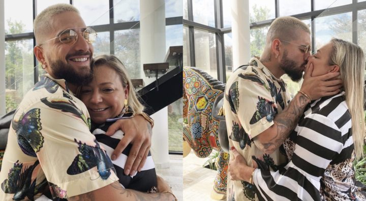 Colombian musician Maluma under fire for kissing his mum passionately
