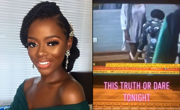 #BBNaija: Diane removes her panties before other housemates