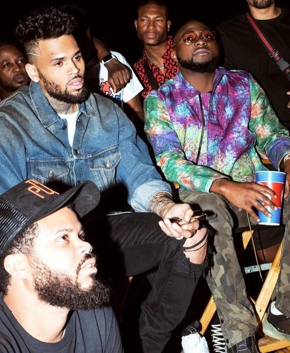 New Photos Of Davido And Chris Brown At A Concert