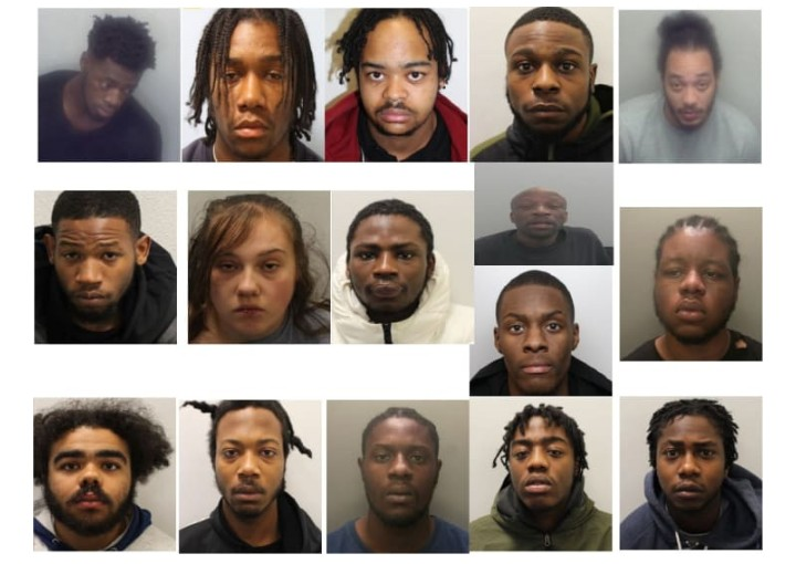 2 Nigerians, 14 Gang Members Sentenced To 61 Years For Drug Offences In The UK