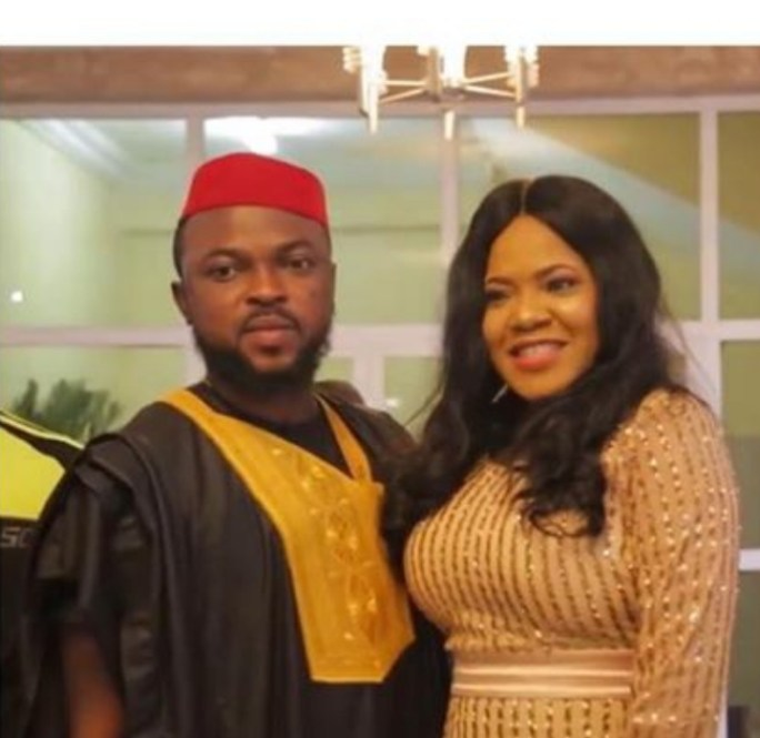 First pictures from actress Toyin Abraham and Kolawole Ajeyemi's Introduction/Engagement