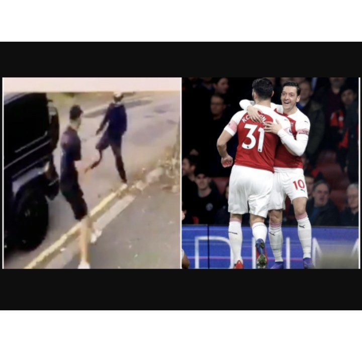 Watch the moment thugs attacked Mesut Ozil before teammate Sead Kolasinac helped fight them off during carjacking terror