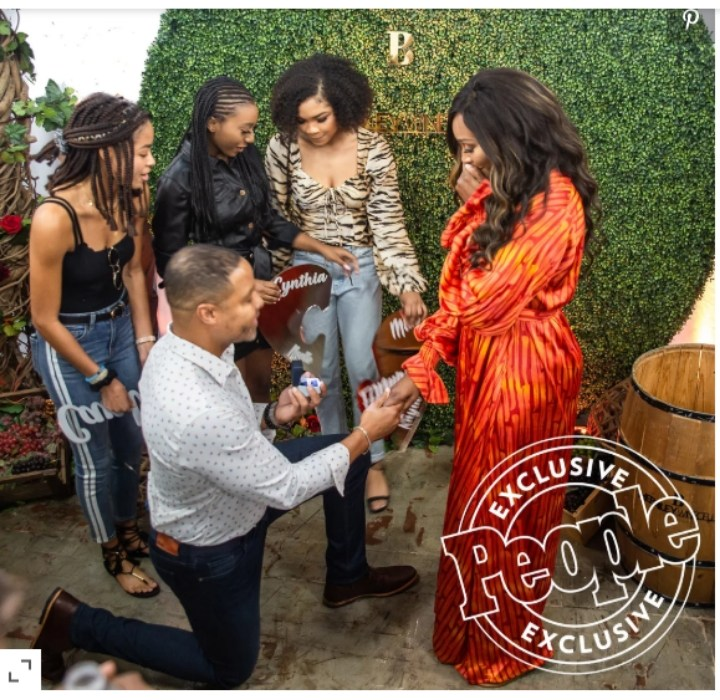 Real Housewives of Atlanta star, Cynthia Bailey is engaged to her boyfriend Mike Hill after 14 months of dating (Photos)