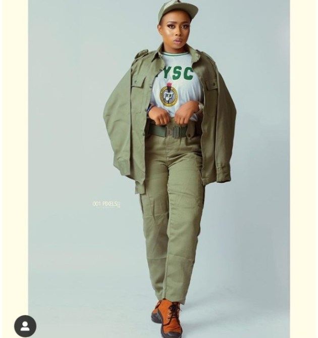 Alaafin Of Oyo's Wife Pictured In NYSC Uniform As She Serves Her Country