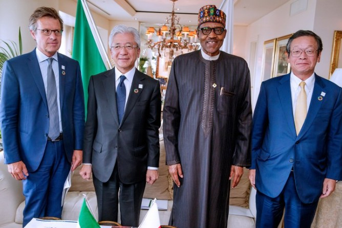 President Buhari Meets With Heads Of Toyota Company And Japan Bank