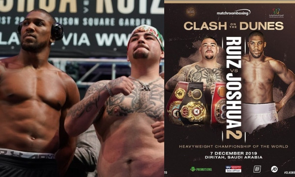 Anthony Joshua and Andy Ruiz's rematch to hold in Saudi Arabia on December 7th