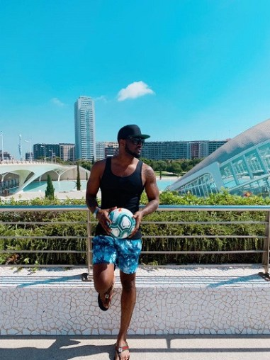 Peter Okoye unveils the ball for new LaLiga Season (Photos)