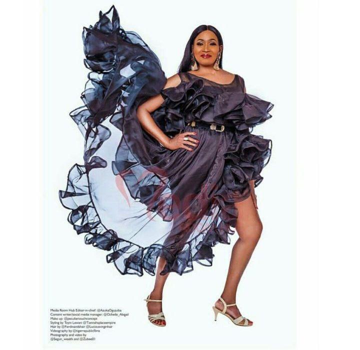 Photos: Kemi Olunloyo Covers Mediaroomhub Magazine As She Celebrates 55th Birthday Today