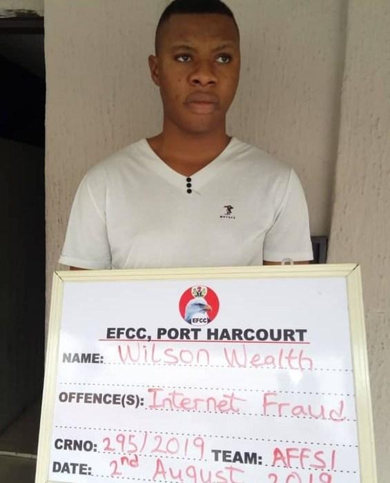 EFCC Arraigns Wealth, A Yahoo Boy In Port Harcourt (Photo)