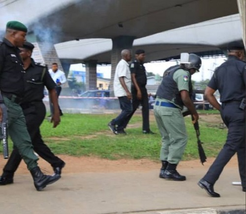 RevolutionNow Protest: Security Agents Surround National Stadium Against Protesters