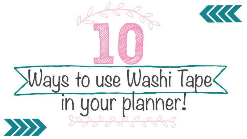 Pinterest Ideas for Washi Tape