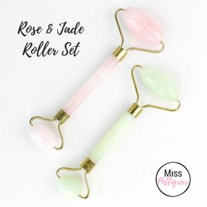 Jade Facial Roller Rose Quartz Facial Roller Set