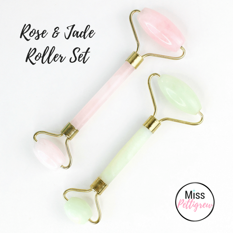 Jade Facial Roller Rose Quartz Facial Roller Set