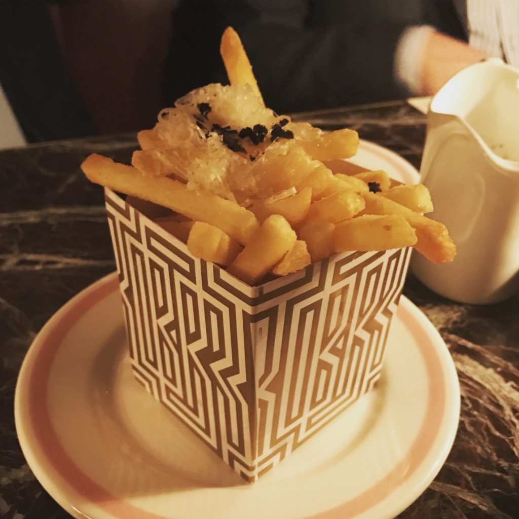 Truffle fries at Bob Bob Ricard Soho London