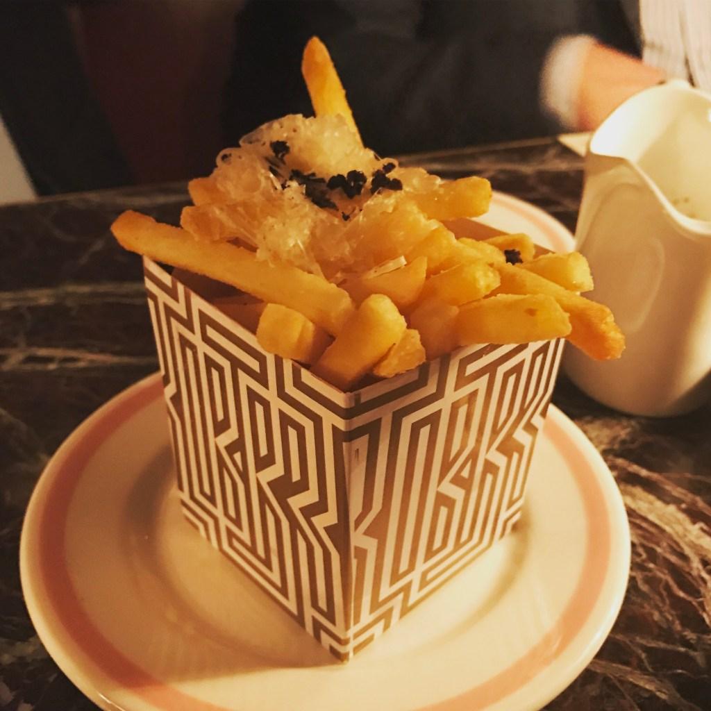Truffle fries at Bob Bob Ricard Soho London