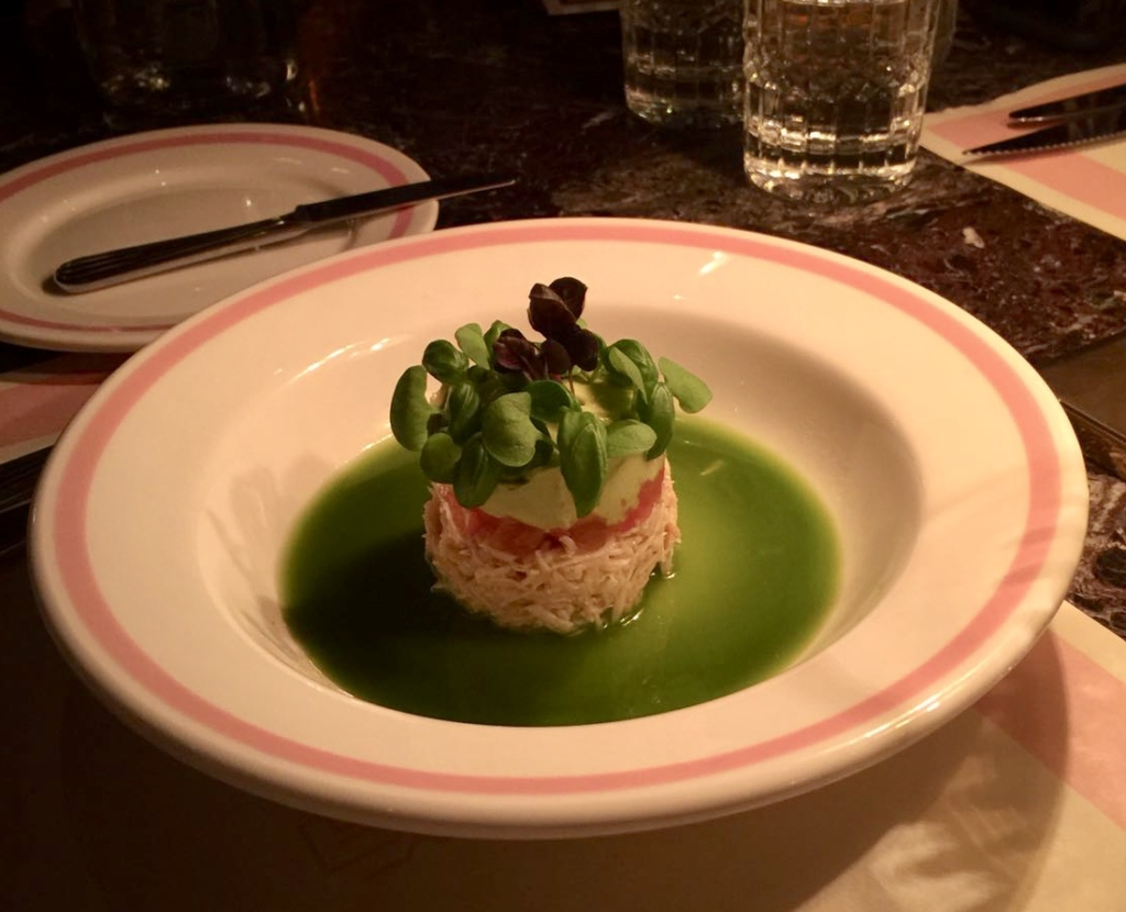 Crab salad at Bob Bob Ricard Soho London