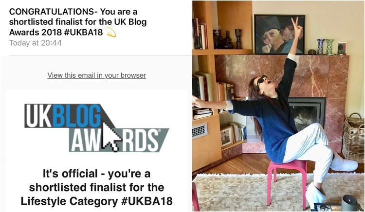 UK Blog Awards Email and Reaction