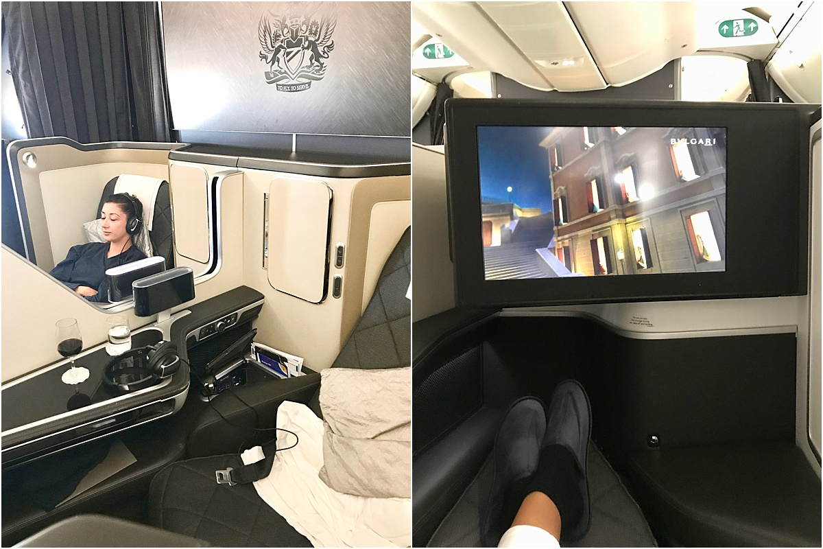 First Class British Airways Tokyo to London