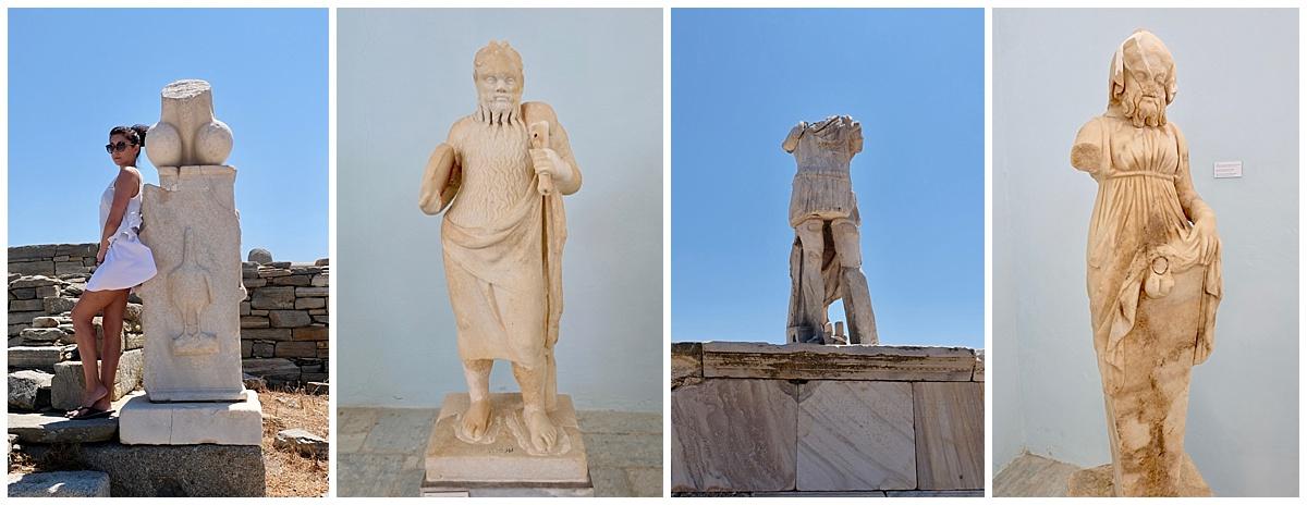 Delos Funny Statues