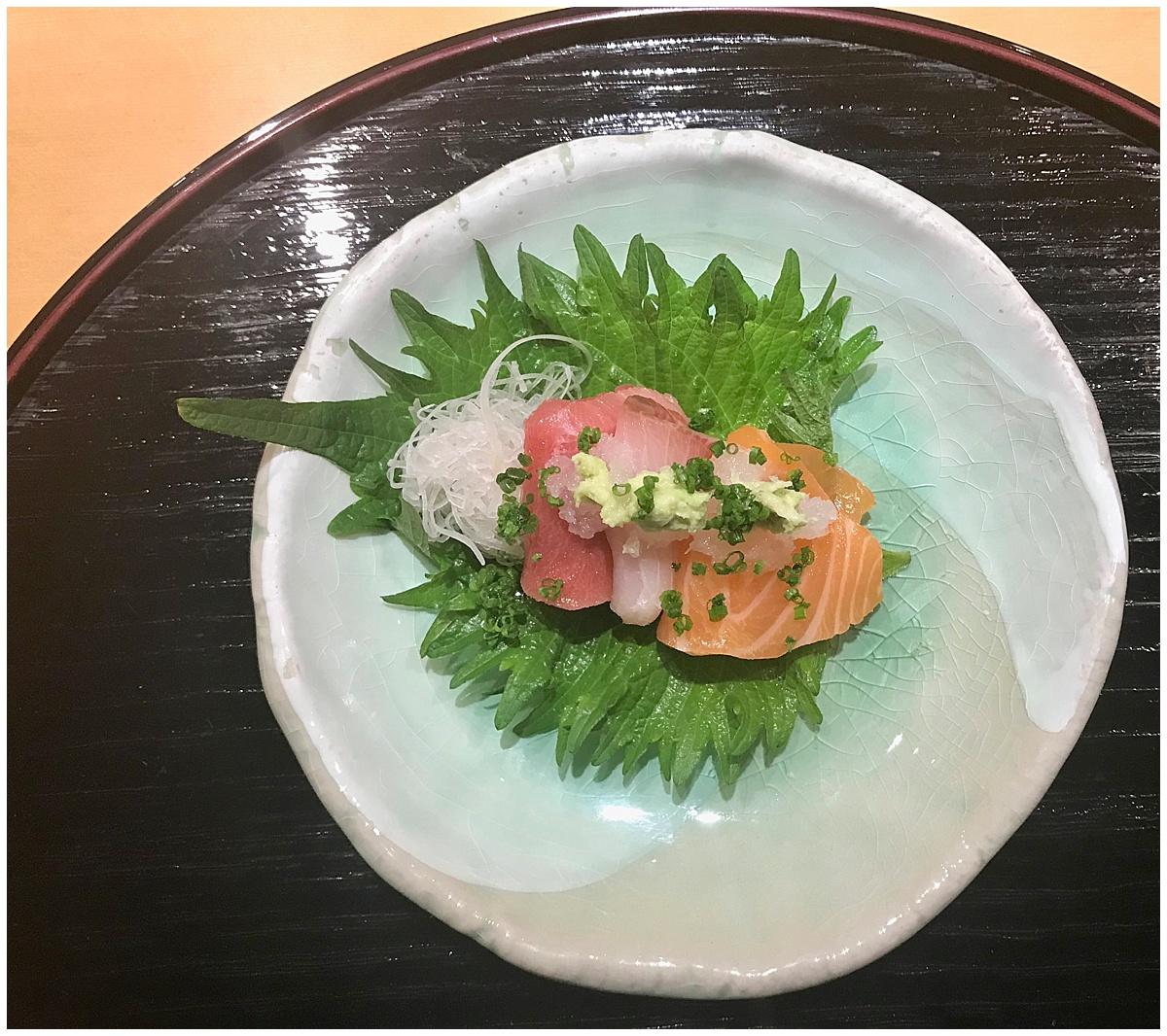 Sushi Tetsu sashimi plate