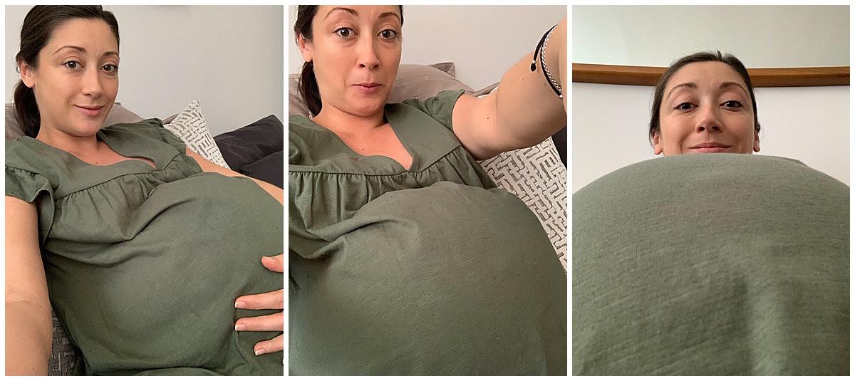 Heavily-pregnant