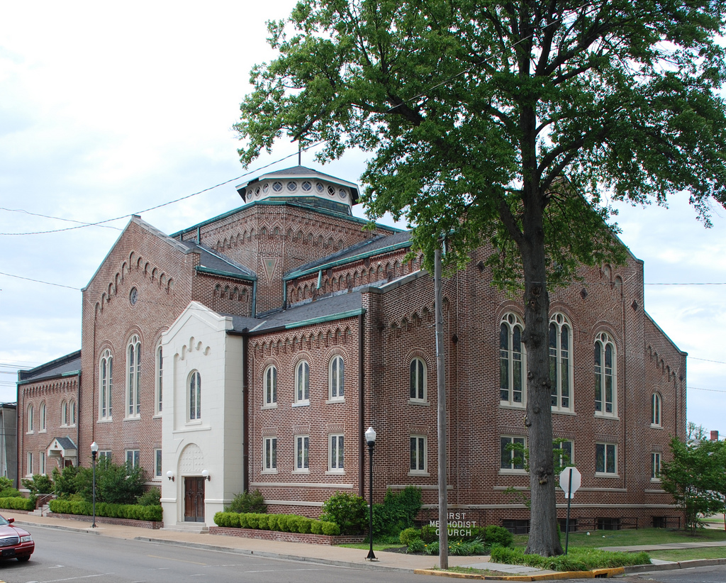 First Methodist Church--built in 1917, I don't know the architect but maybe someone out there does?