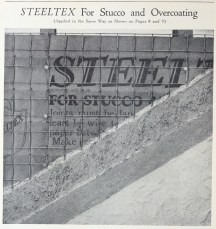Three coat plaster system on Steeltex wire lath. Detail from page 10. Better Wall For Better Homes. National Steel Fabric Corporation. Pittsburgh, PA 1927