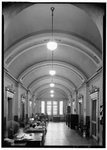 Historic American Buildings Survey Lester Jones, Photographer February 20, 1940 WEST CORRIDOR.