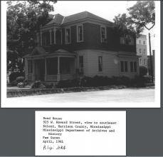 Bond-Grant House. Pam Guren, MDAH April 1981 from MPS Historic Resources of Biloxi NRN on MDAH HRI accessed 4-13-2016