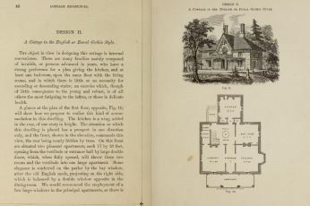 pages 40 & 41 Cottage Residences by A. J. Downing first ed. published 1842