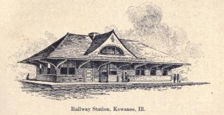 Railway Station, Kewanee, Il. from 1896 book John Wellborn Root: A Study of His Life and Work by Harriet Monroe