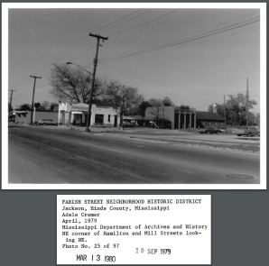Mill Street Jackson, Hinds County, MS April, 1979