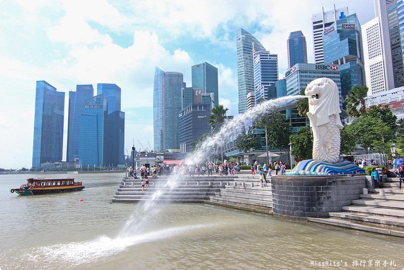 新加坡地標 新加坡好玩 魚尾獅公園 merlion park 新加坡地鐵0