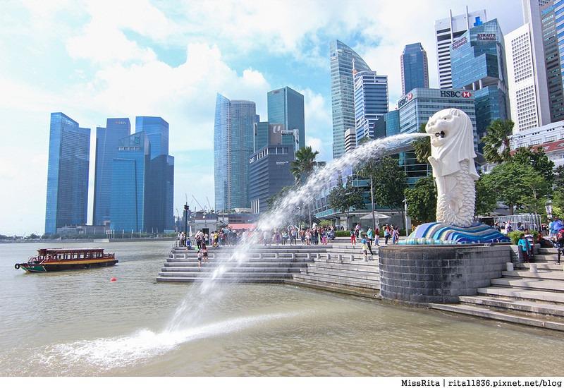新加坡地標 新加坡好玩 魚尾獅公園 merlion park 新加坡地鐵13