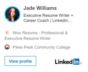 LinkedIn Profile Badge