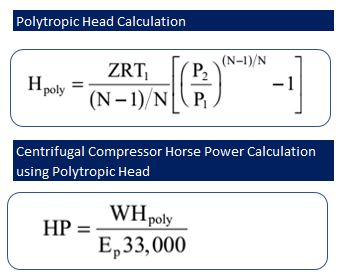 Centrifugal Compressor Power Calculation using Polytropic head