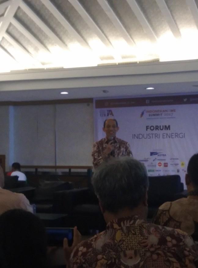 Pak Arcandra Tahar at Indonesianisme Summit - Energy Industry Forum